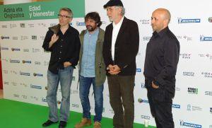 David Trueba, Jordi Evole, Fernando Trueba y Luis Alegre.