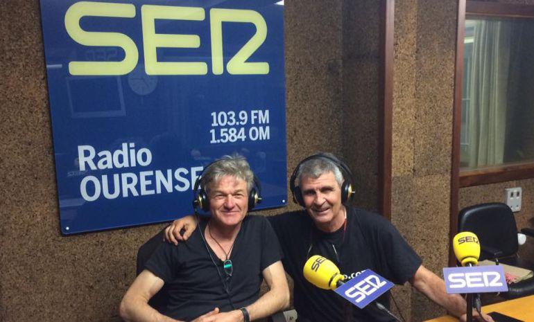 Mark Ritchie y Moncho Conde Corbal en Radio Ourense