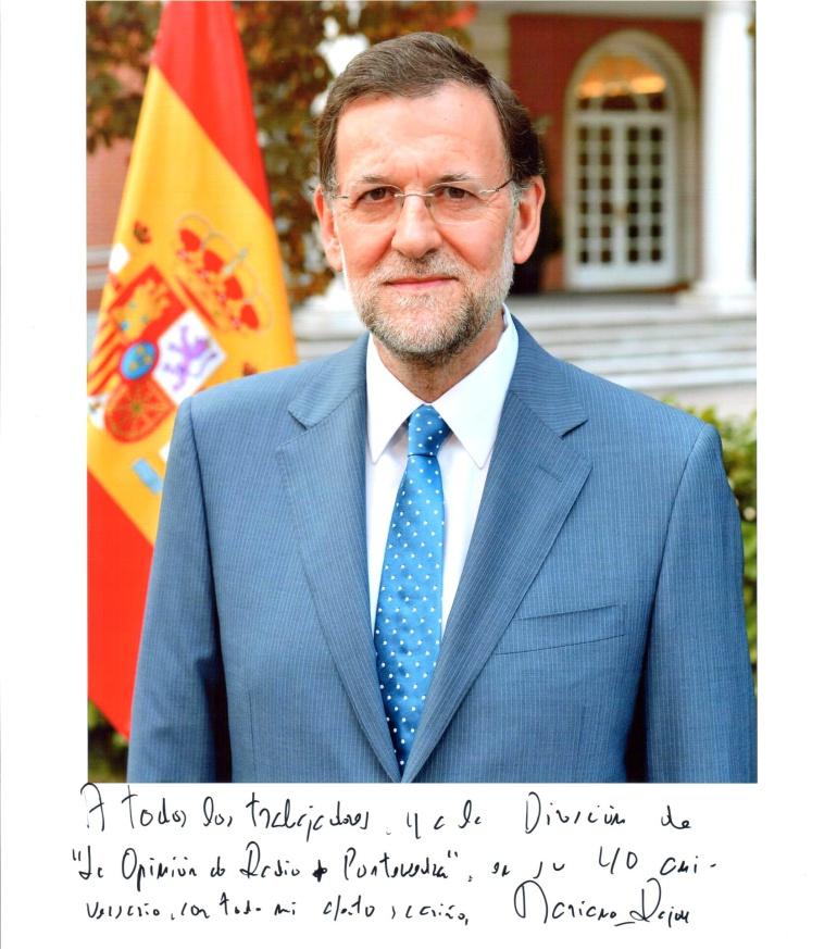 """Mariano Rajoy felicita a """"La Opinión"""""""