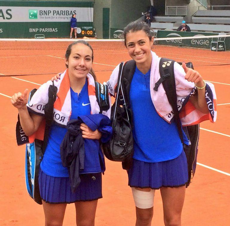 Paula Arias y Olga Danilovic estarán en la final de dobles del Roland Garros Junior