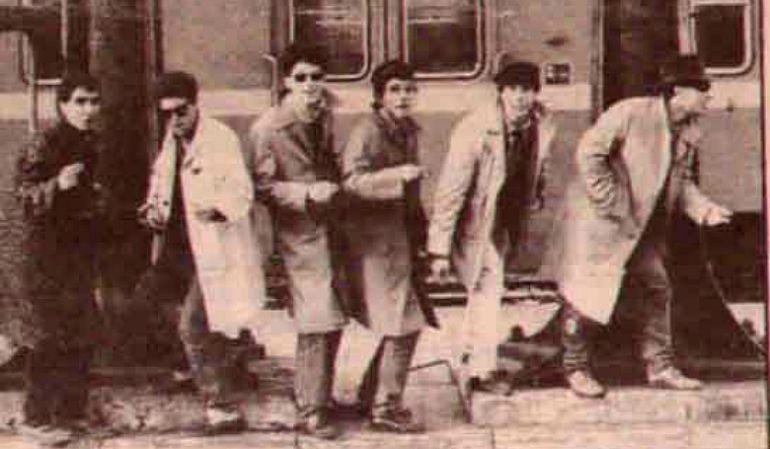 Una imagen de 'Los Nadie' en 1985