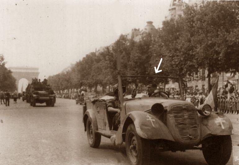Amado Granell entra en Paris al frente de La Nueve (24 de agosto de 1944)