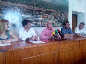 Rueda de prensa en el Ayuntamiento de Baza de la presentación de la nueva campaña de excavaciones en los yacimientos 'Baza-1'
