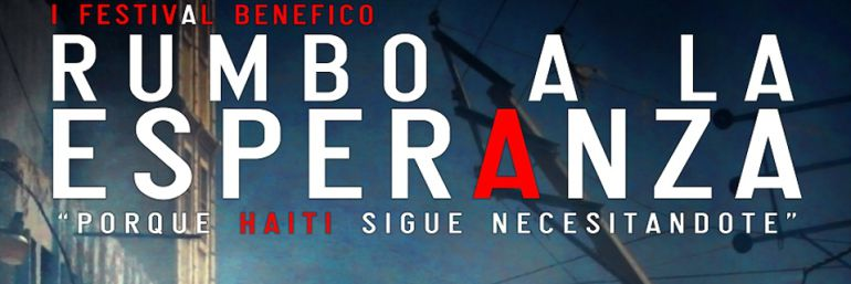 Cartel del festival solidario Rumbo a la Esperanza celebrado el 23 de julio de 2011 en Alcalá de Henares