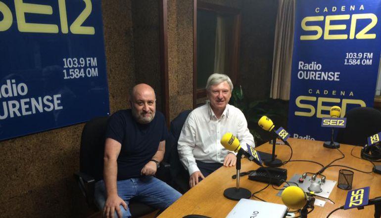 Xose Gonzalez y Alejandro Rubín en los estudios de Radio Ourense