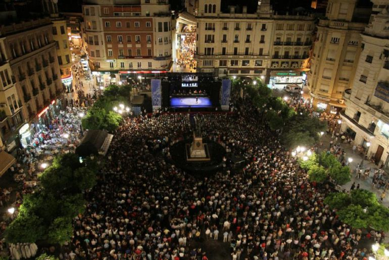 Noche Blanca del Flamenco en las Tendillas