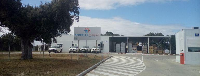 Instalaciones de Berkeley Minera en Retortillo, Salamanca