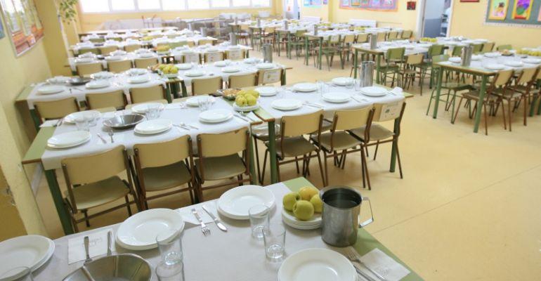 Becas de comedor antes del inicio del curso escolar ser for Mesas comedor escolar