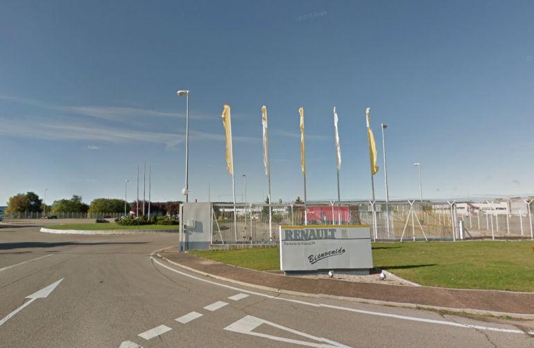 Entrada de la factoria de Renault Palencia