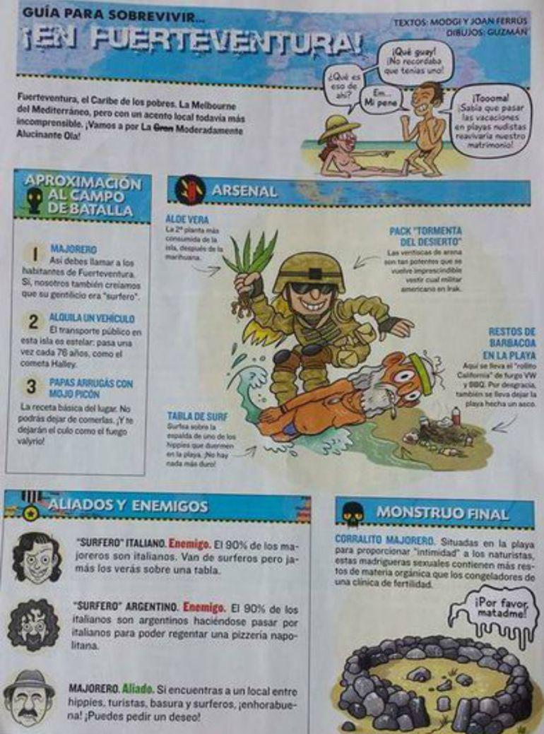 Enfado en Fuerteventura con la revista satírica 'El Jueves'