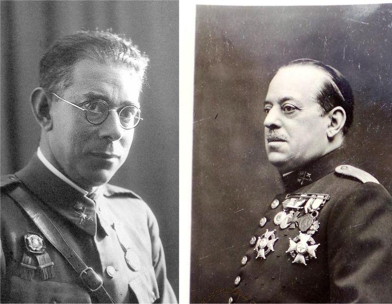 Emilio Mola y José Sanjurjo