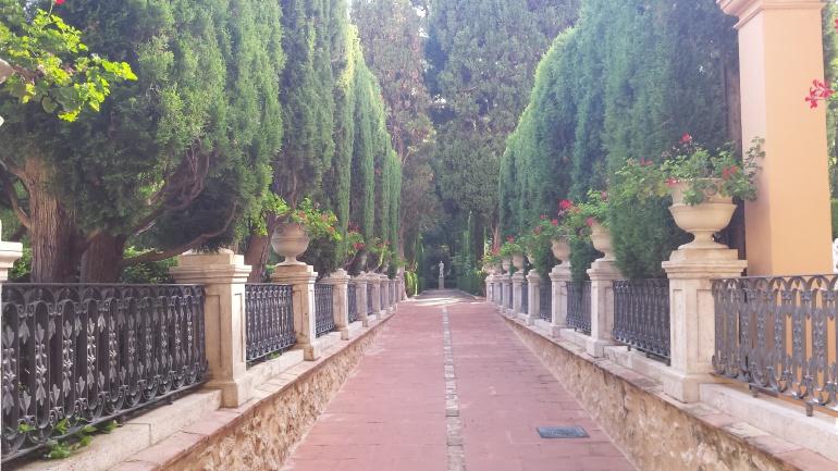 Ya se puede entrar a los jardines de monforte por la for Jardines de monforte