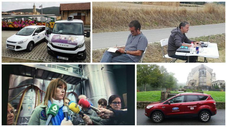 Así han vivido los redactores la caravana electoral vasca