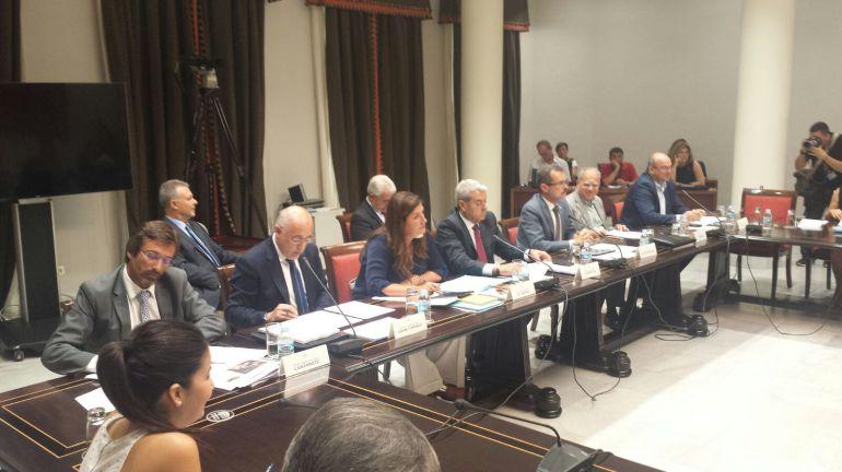 Los presidentes de los cabildos durante la comisión.