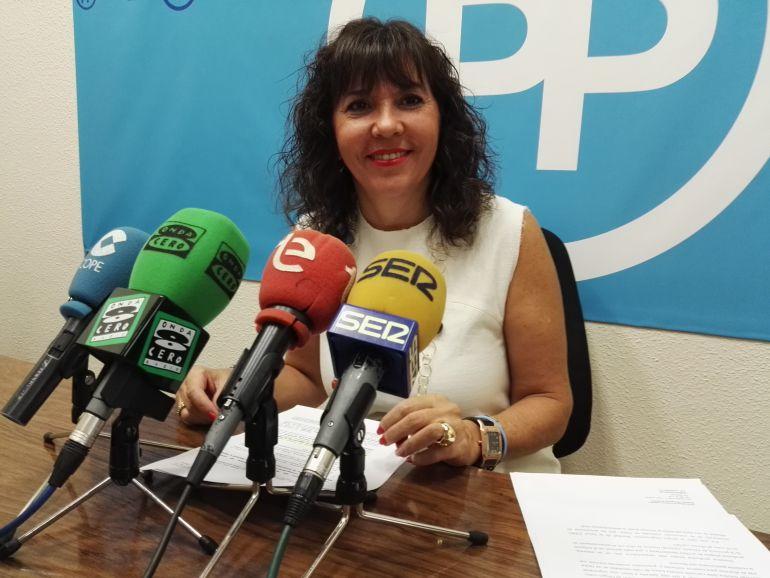Mercedes Alonso, portavoz del PP