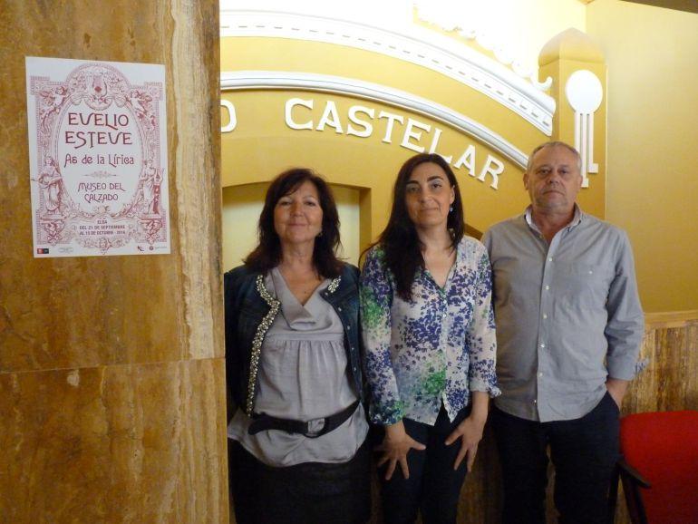 Consuelo Poveda, Nieves López y Juan Vera
