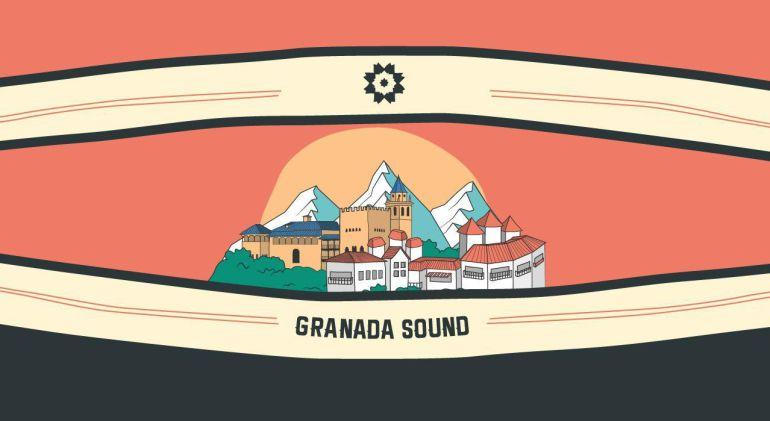 Logo anunciador del cartel del Granada Sound.