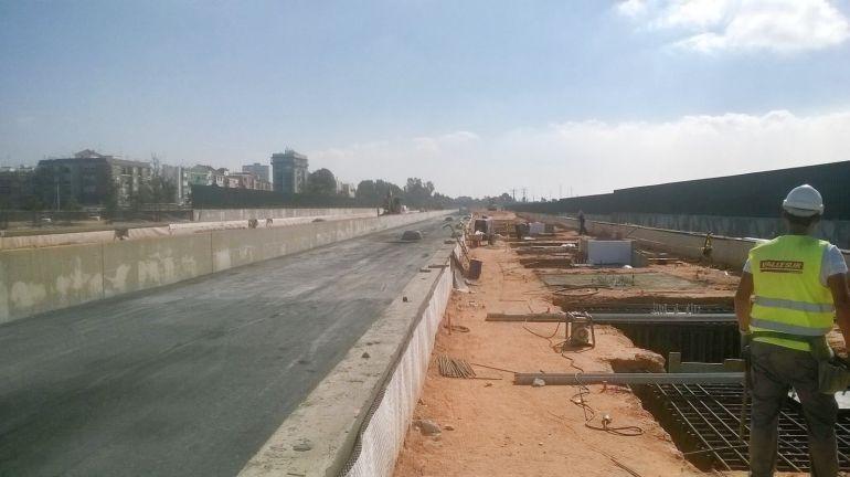 Obras de la nueva estación de ferrocarril de Huelva