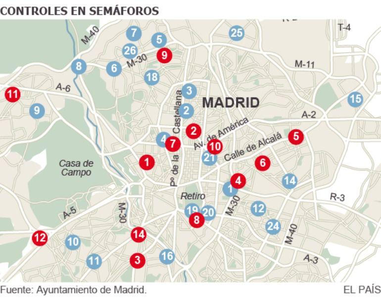 Nueve semáforos comenzarán a sancionar este lunes