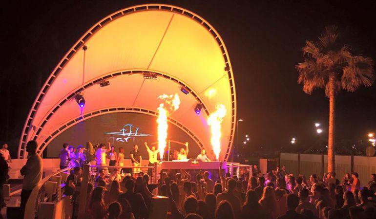 Imagen de una fiesta reciente celebra en el Club de Playa
