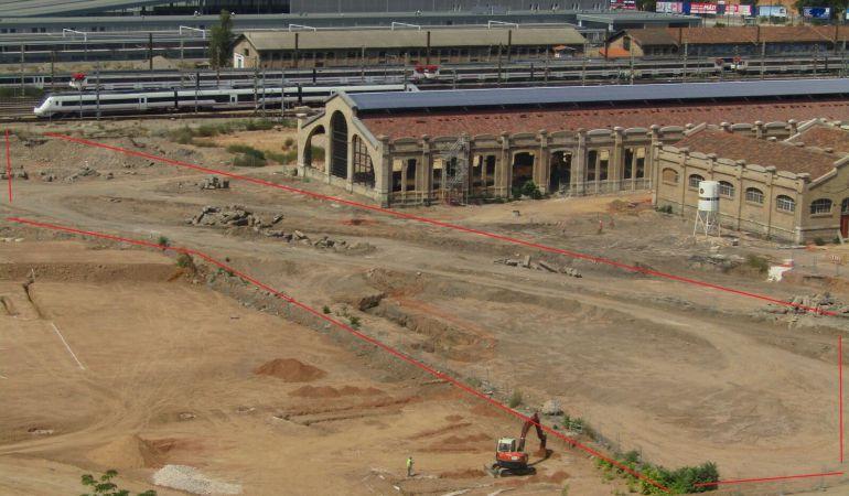 Vista aérea de la parcela de FICOVAL donde se han descontaminado toneladas de tierra