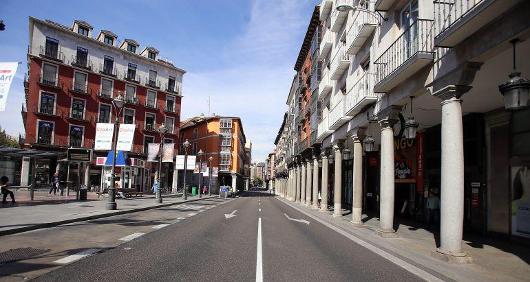 """Plaza de Fuente Dorada, sin tráfico en el 'Día sin Coches"""""""