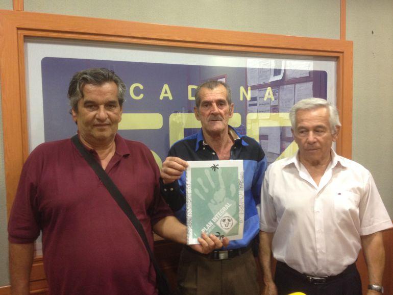 Eugenio Rosa, Antonio Fernandez y Francisco Cali Palmeras