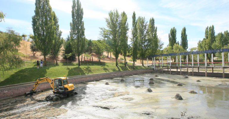 Limpieza del lago del parque central en tres cantos un - Aticos en tres cantos ...