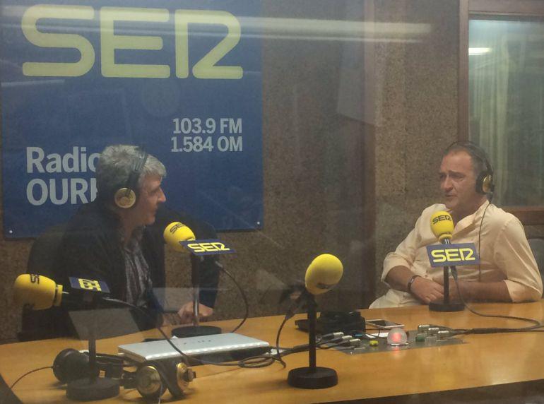 Moncho Conde Corbal y Andy Mcbeth en Radio Ourense