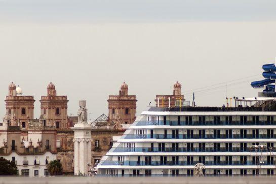 Imagen reciente del puerto de Cádiz