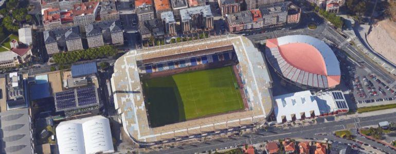 Campo de fútbol de Riazor.