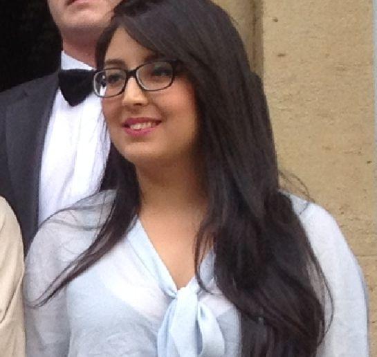 Luisa , una de las nuevas alumnas de la Fundación Gala
