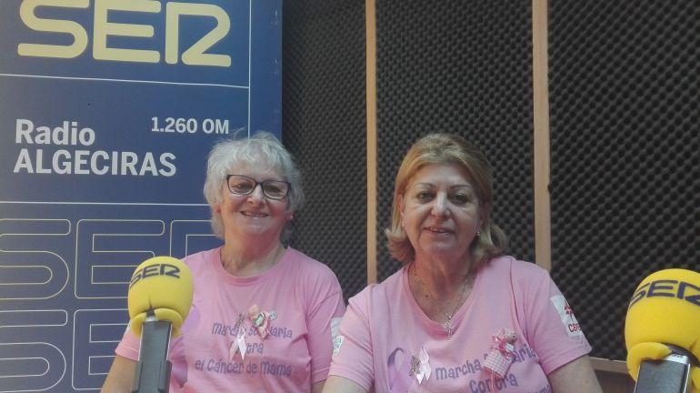 Inmaculada Herrera, voluntari de la Asociación Española Contra el Cáncer y su presidenta Ana María Contreras.