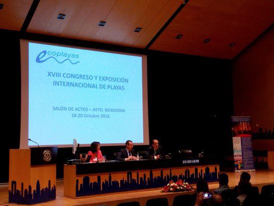 Inauguración del Congreso Internacional de Playas-Ecoplayas en Benidorm