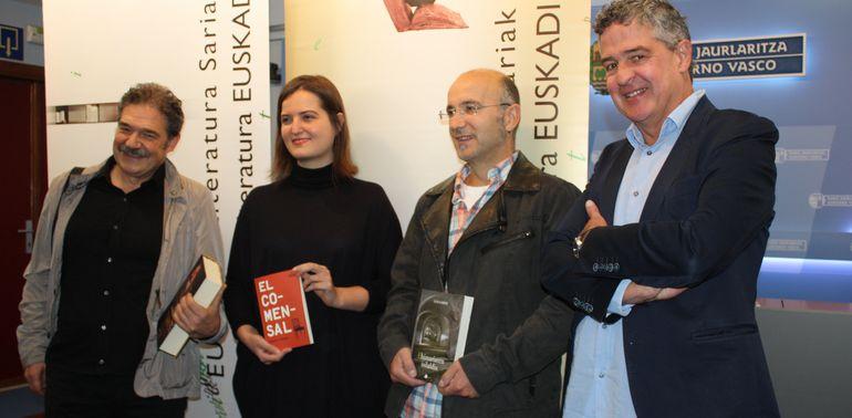 Gabriela Ybarra, Luis Garde y Xabier Olarra, premios Euskadi de Literatura 2016