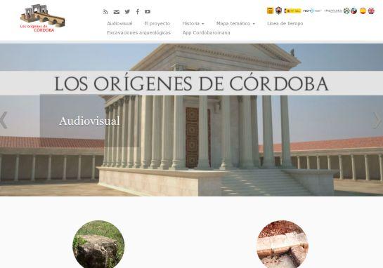 Portada de la web cordobaromana.com