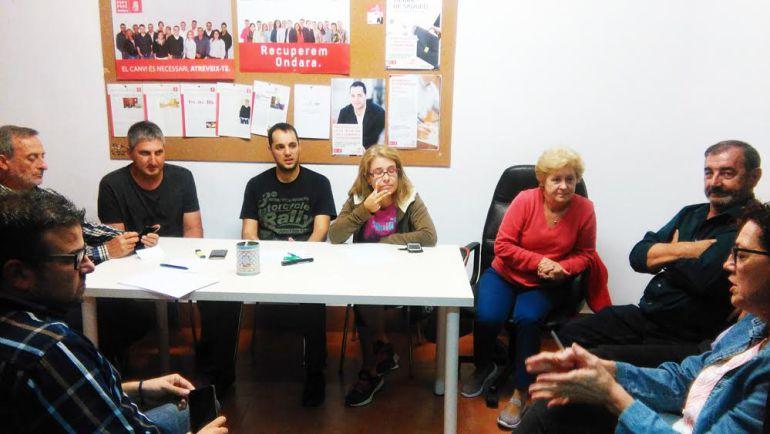 Imagen de la última asamblea celebrada por el PSPV-PSOE de Ondara.