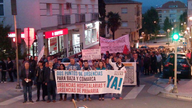 Manifestación en Baza (Granada) por dos servicios de urgencias diferenciados