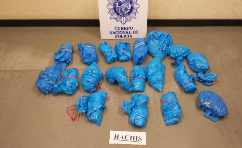 Droga incautada por la Policía Nacional en Palencia