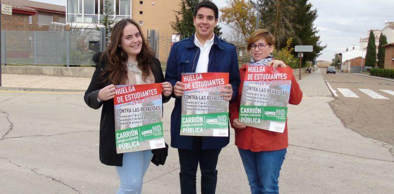 Representantes de Juventudes Socialistas de Carrión de los Condes (Palencia)