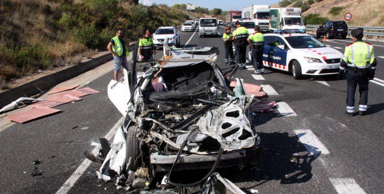 Imatge d'un accident mortal a la N-340 a Altafulla aquest setembre.