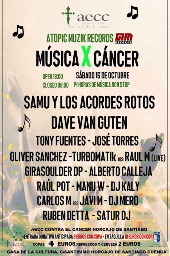 Cartel de actividades pasadas en Horcajo de Santigo