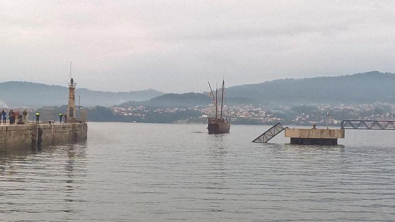 La Nao colisionó con la barandilla del duque de alba del Puerto de Vigo