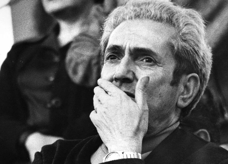 Marcelino Camacho, el 1 de octubre de 1978, en la primera fiesta del PCE tras su legalización