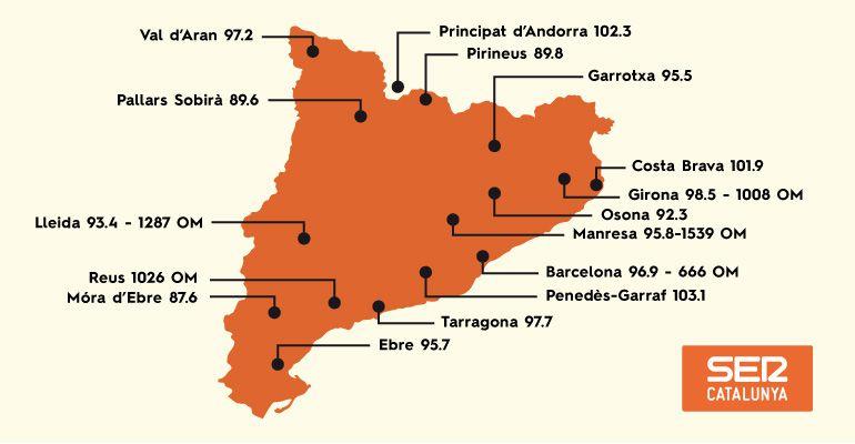 Les freqüències de SER Catalunya