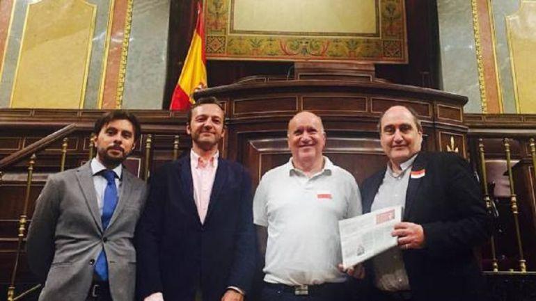 Algunos de los promotores del renacido Ateneo de Palencia