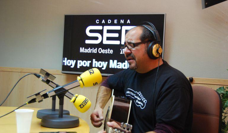 Javier Guerra en directo en los estudios de Ser Madrid Oeste