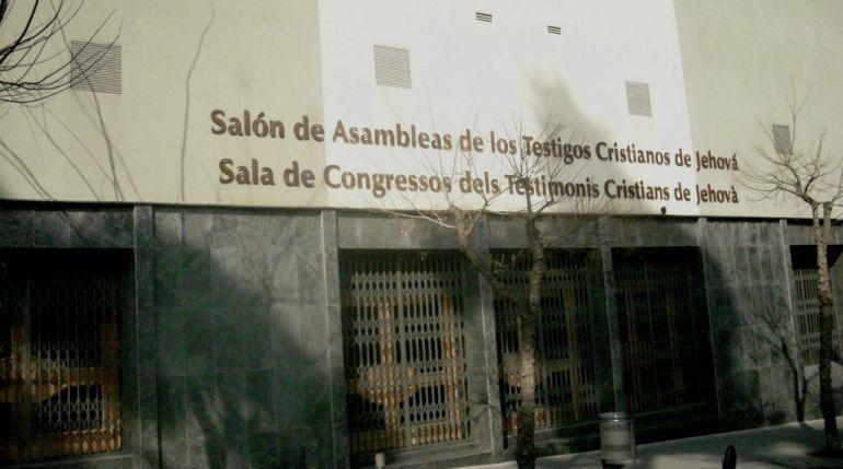 Imagen de archivo de uno de los locales de los Testigos de Jehová en Barcelona
