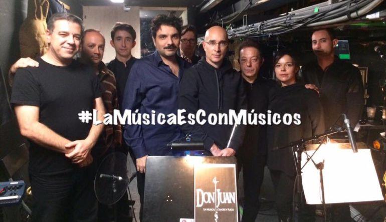 Los músicos de Don Juan, cuyo despido se hará efectivo este domingo.