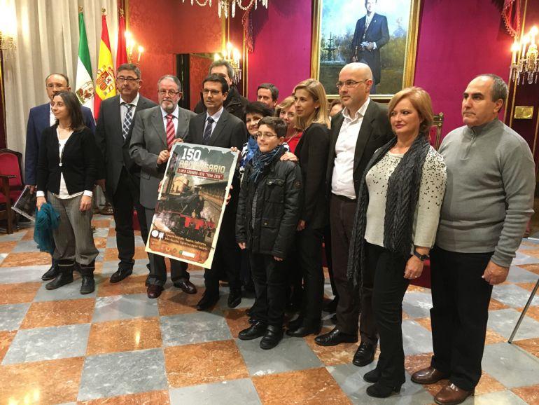 Presentación de los actos del 150 aniversario de la llegada del ferrocarril a Granada en el Ayuntamiento de la ciudad